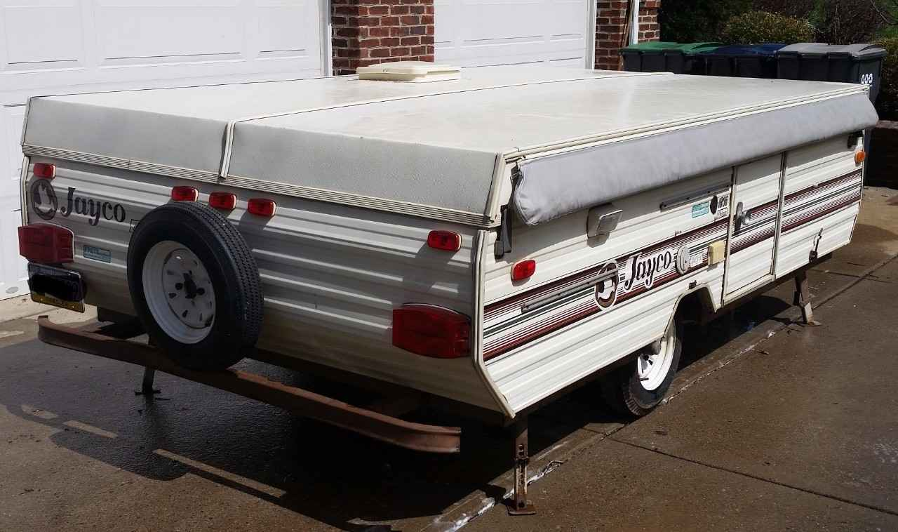 1989 used jayco jay series 1006 pop up camper in