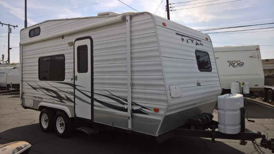 2006 used carson trailer titan fc 18 toy hauler in