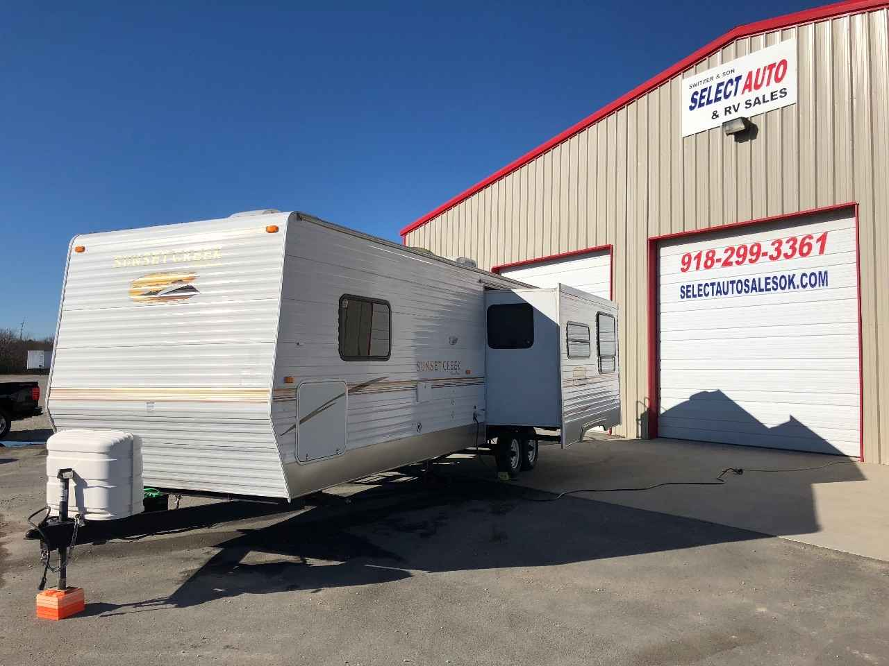 2008 Used Sunnybrook Sunset Creek 297sl Travel Trailer In Oklahoma Ok