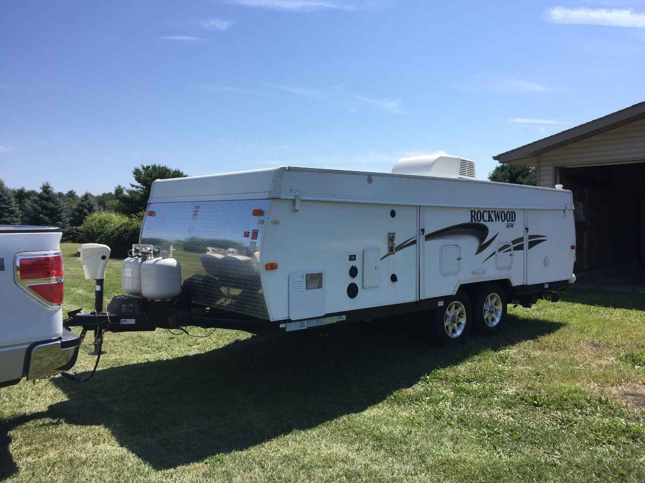 2012 Used Forest River ROCKWOOD HIGH WALL HW296 Pop Up ...
