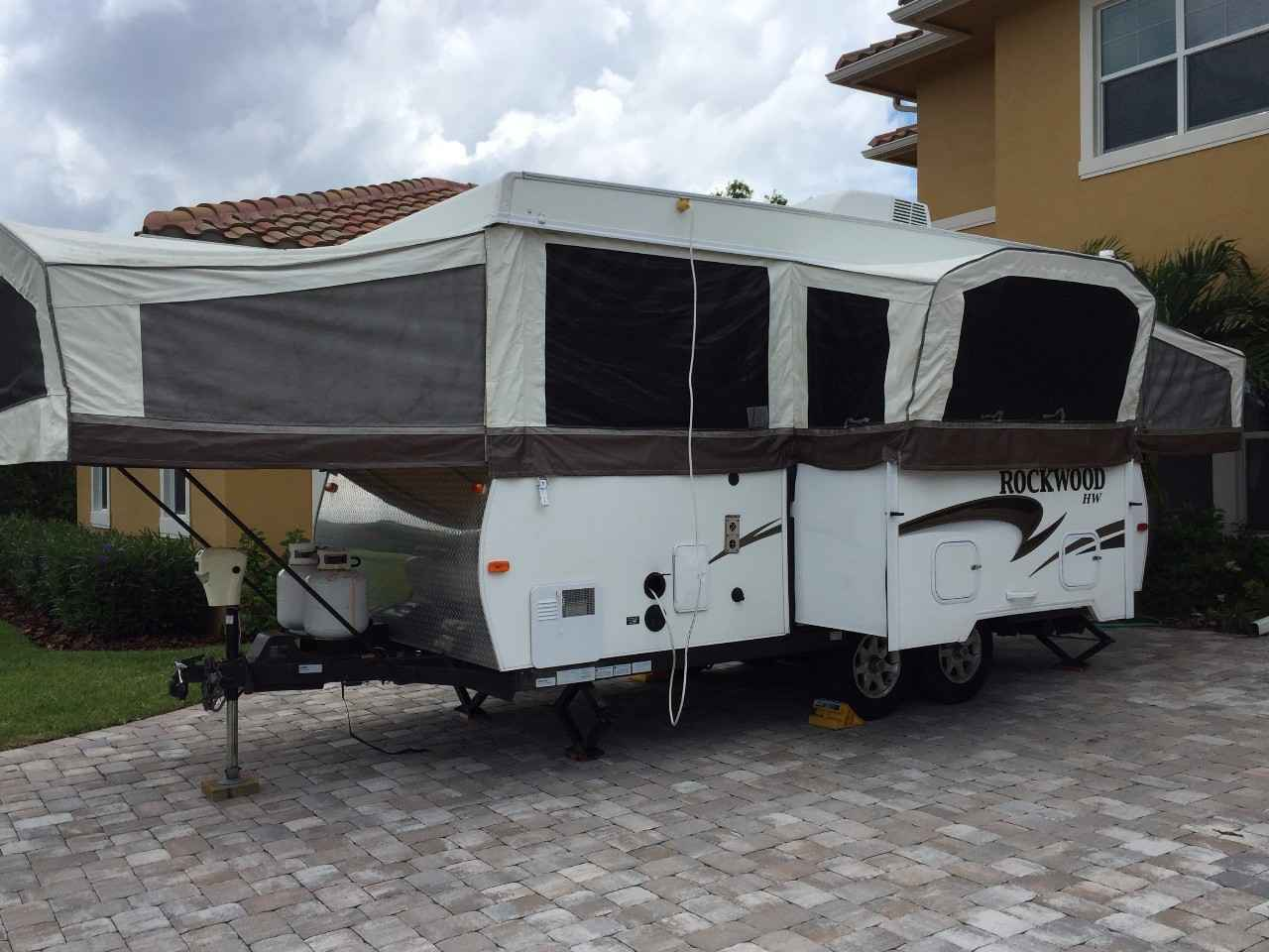 2014 Used Forest River Rockwood High Wall Hw296 Pop Up