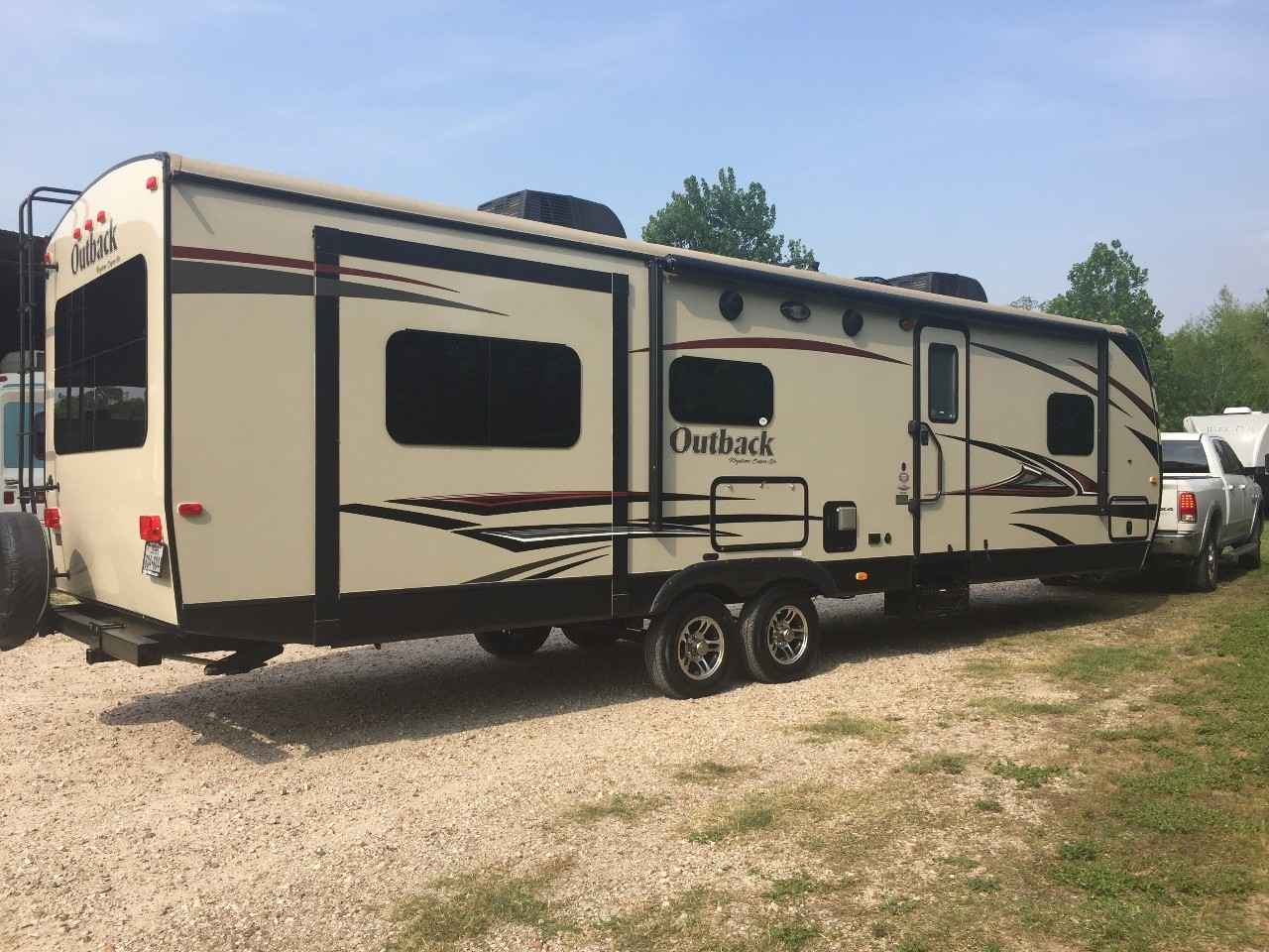 2014 Used Keystone Outback 298re Travel Trailer In Texas Tx
