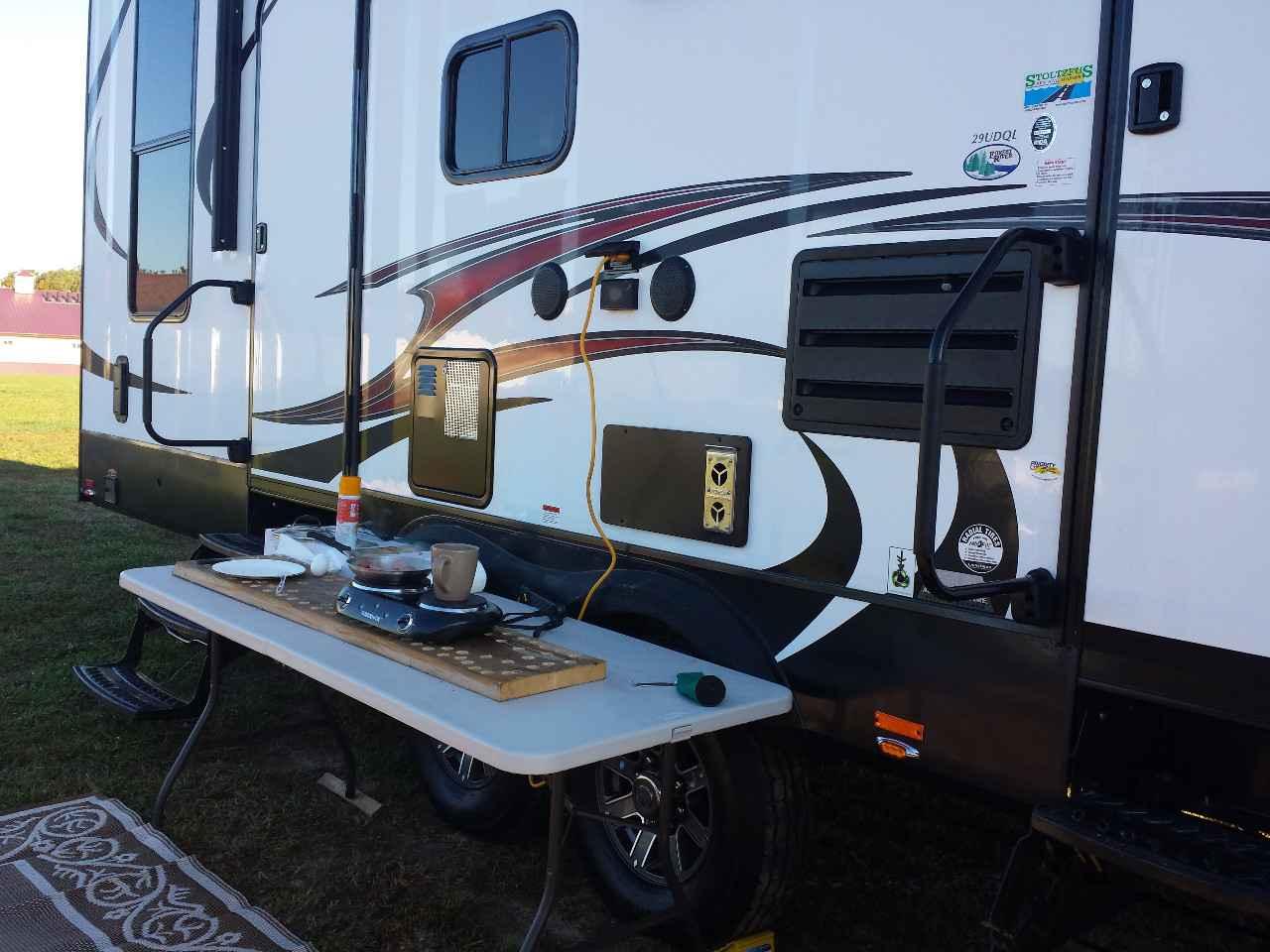 2015 Used Forest River Nitro Xlr 29udql5 Toy Hauler In