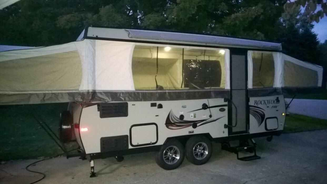 2015 used forest river rockwood 296hw pop up camper in indiana in. Black Bedroom Furniture Sets. Home Design Ideas