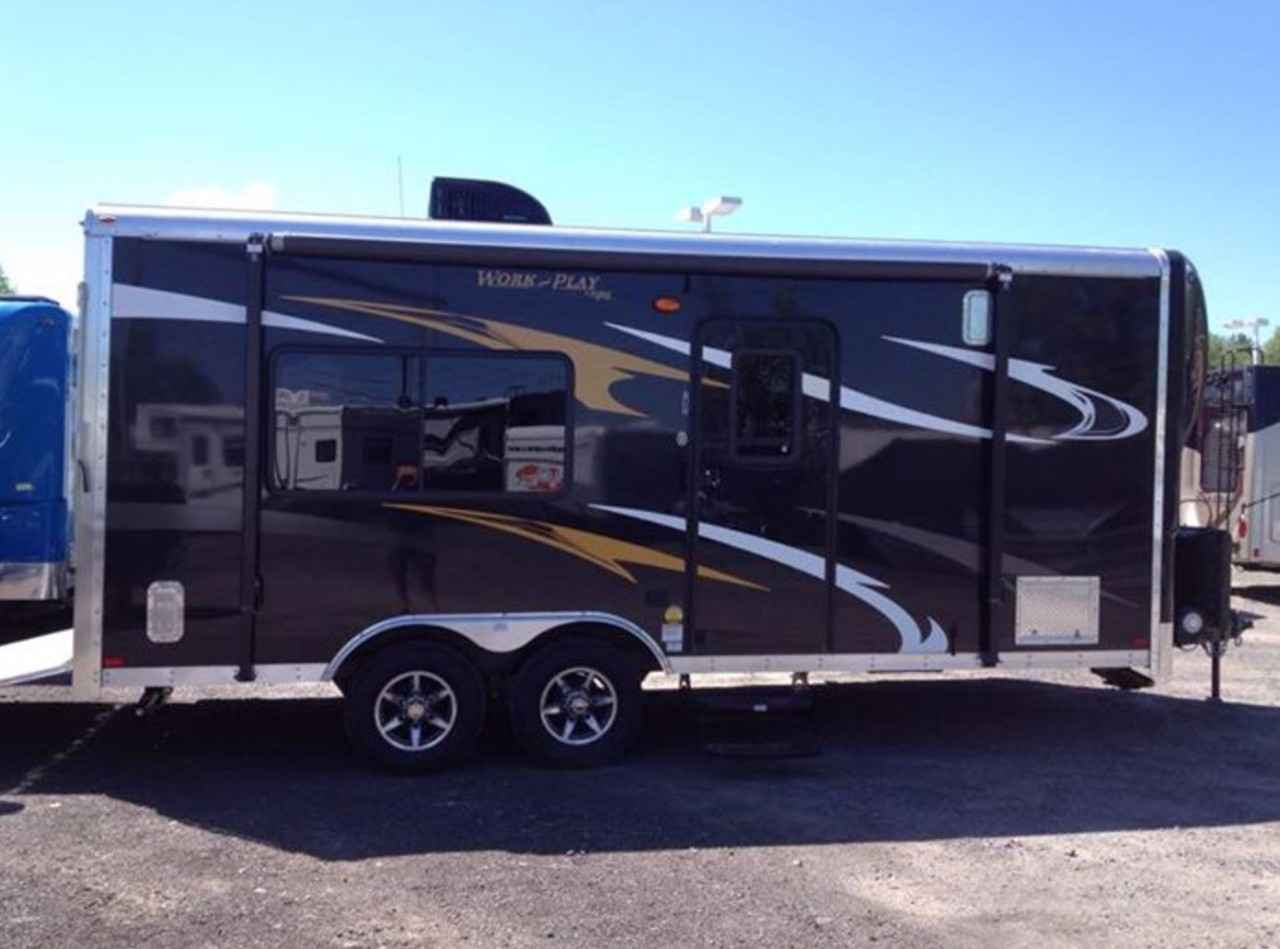 2015 Used Forest River Work And Play 18ec Toy Hauler In