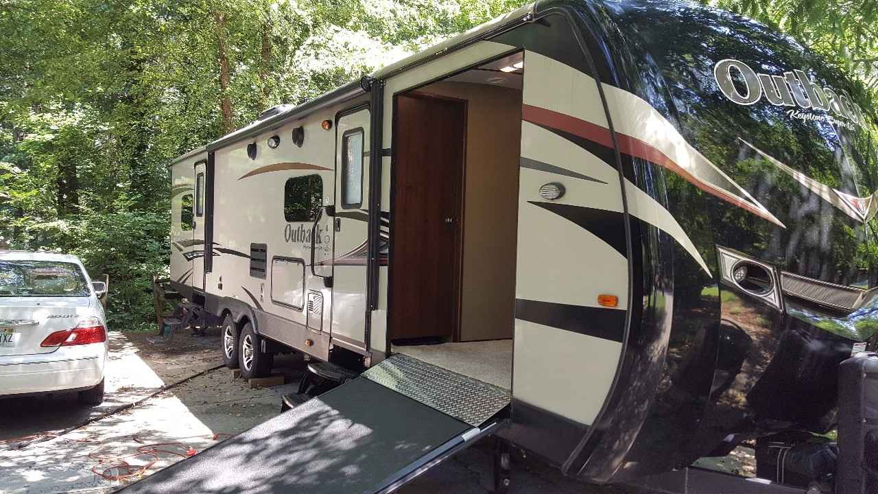 2015 Used Keystone Outback 324cg Toy Hauler In Georgia Ga