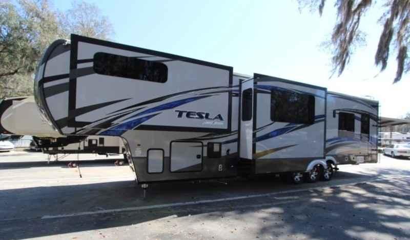 Tesla Toy Hauler >> 2016 New Evergreen Tesla T3950 Toy Hauler In Florida Fl