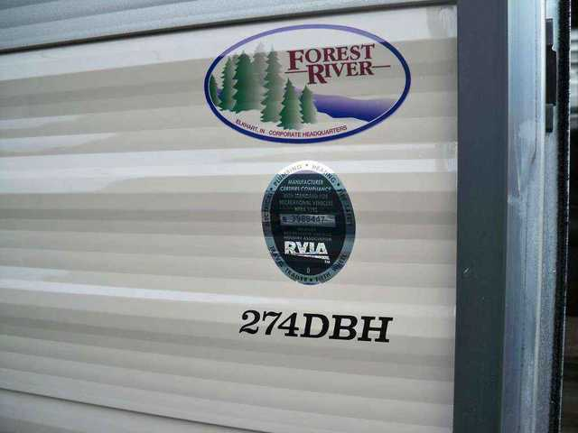 2016 New Forest River Cherokee 274dbh Travel Trailer In