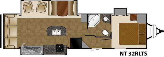 2016 New Heartland North Trail 32rlts Travel Trailer In