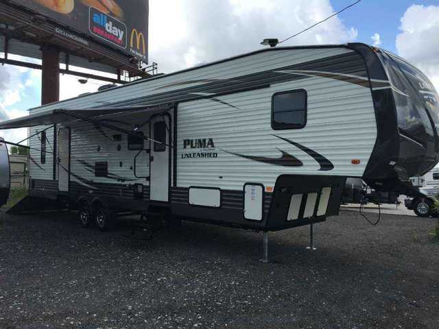 2016 New Palomino Puma Unleashed 373qsi Toy Hauler In