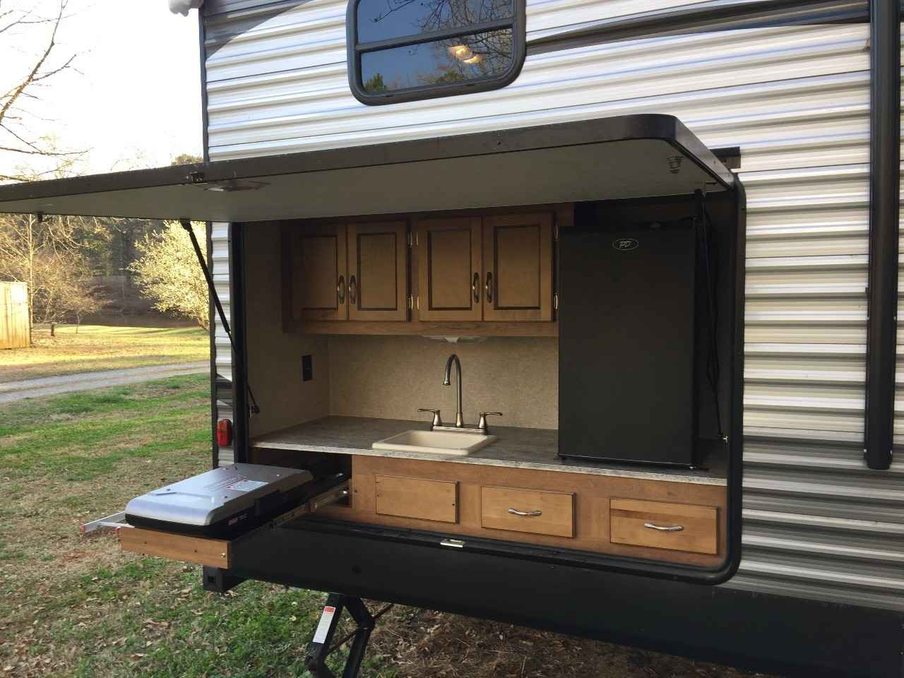 Fold Down Couch In Travel Trailer
