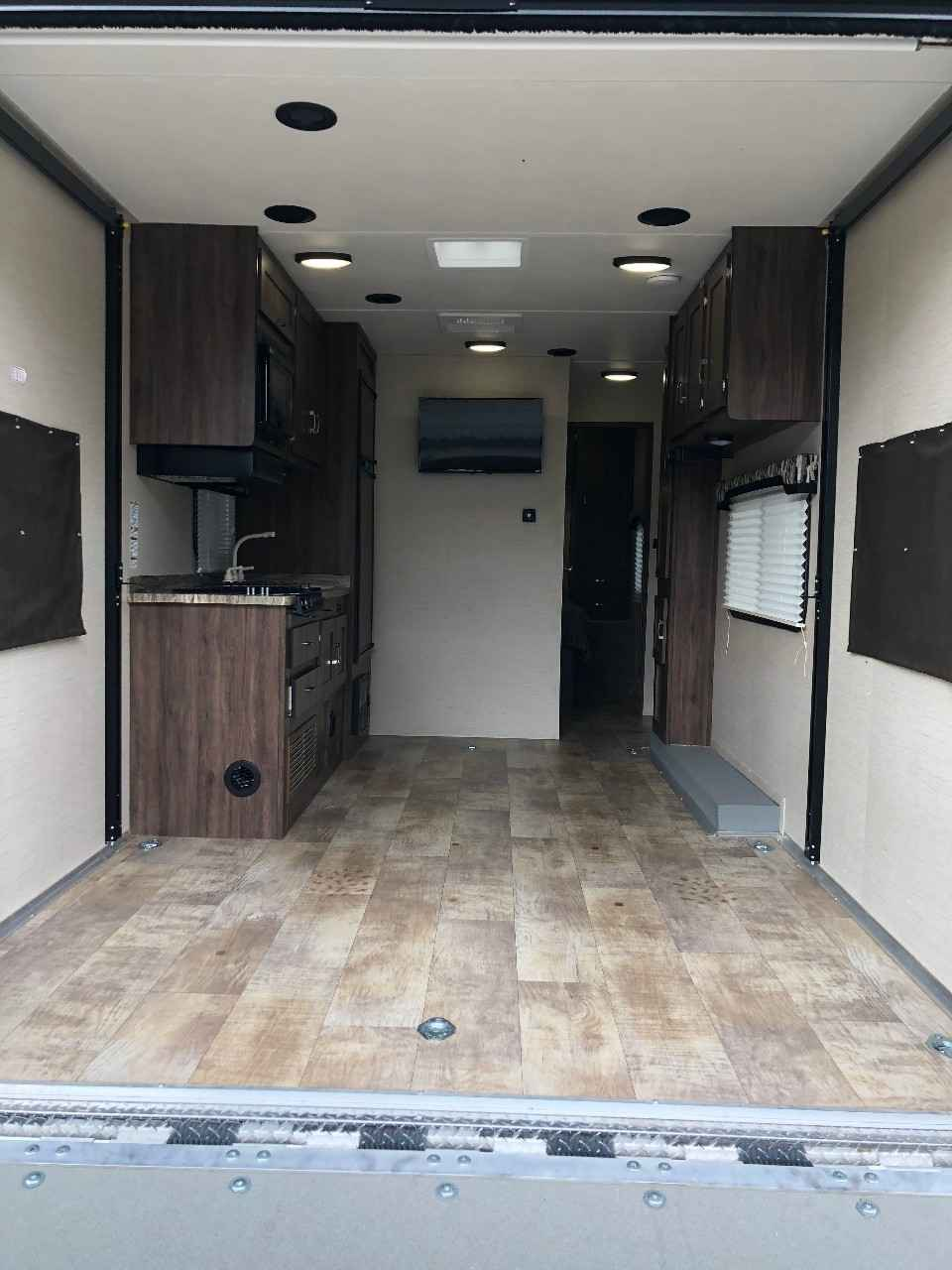 2016 Used Forest River Work And Play 25wab Toy Hauler In