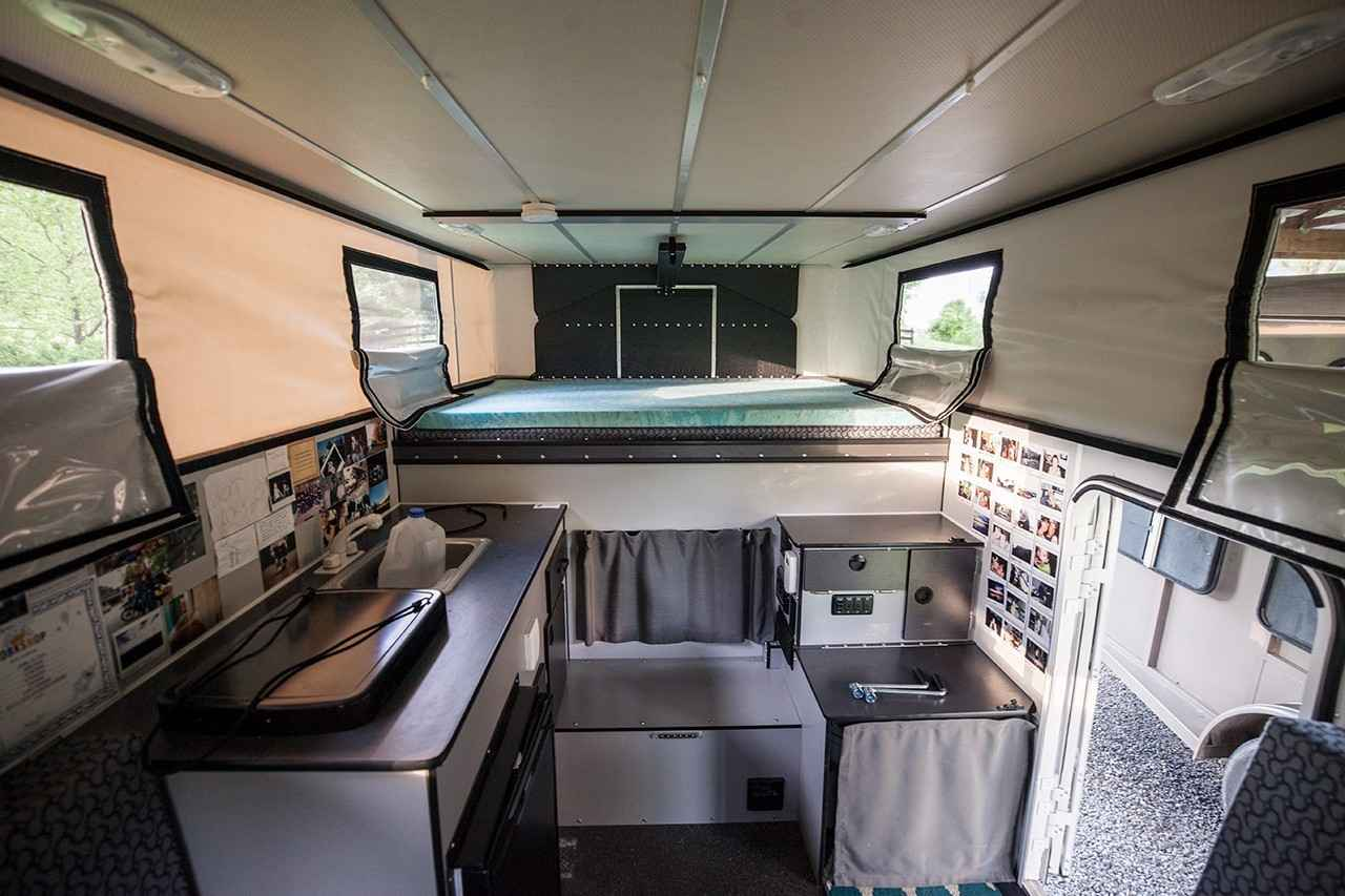 2016 Used Four Wheel Campers Grandby Flat Bed Truck Camper