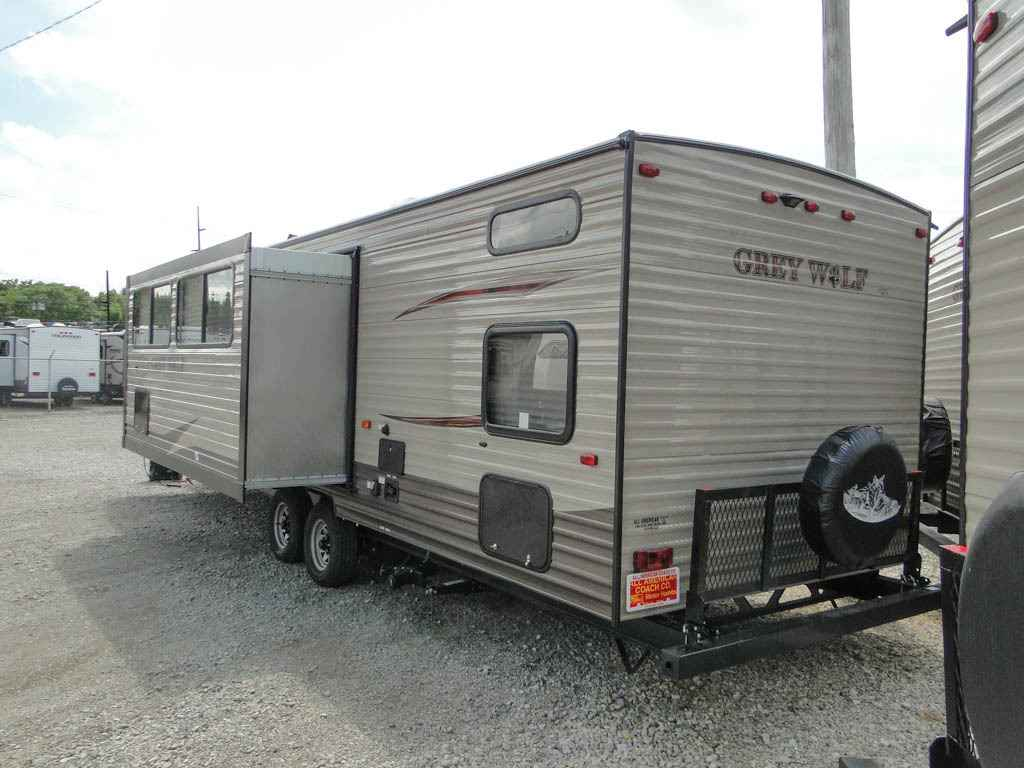 2017 New Forest River Grey Wolf 29BH Quad Bunk Travel ...