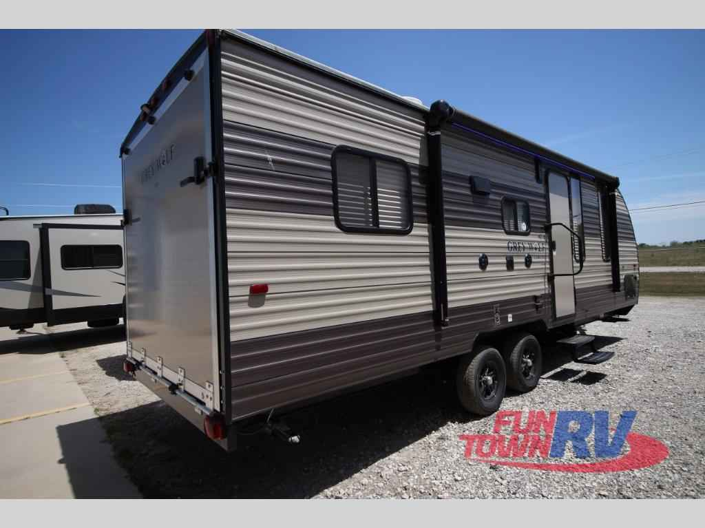 2017 new forest river rv cherokee grey wolf 22rr toy for Toy hauler motor homes