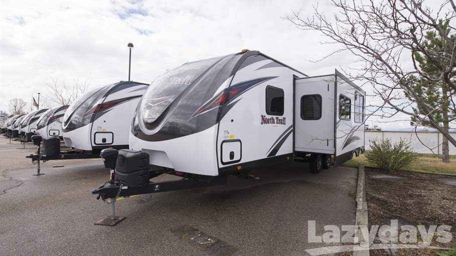 Innovative 2017 New Heartland North Trail 28DBSS Travel Trailer In