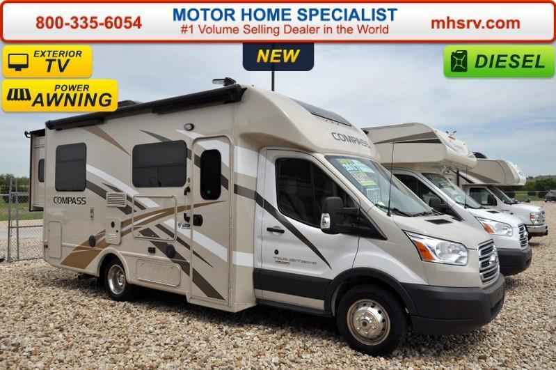 2017 New Thor Motor Coach Compass 23TR Diesel W/Slide, Ext. TV & I Class C in Texas TX