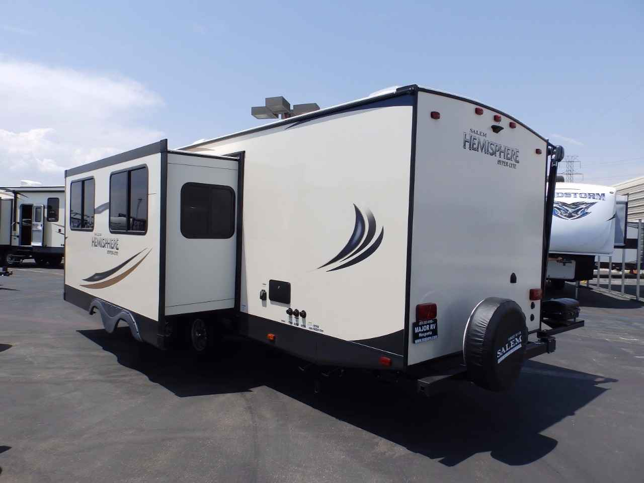 2018 new forest river salem hemisphere 26rbhl 1 slide for 2 bathroom travel trailer