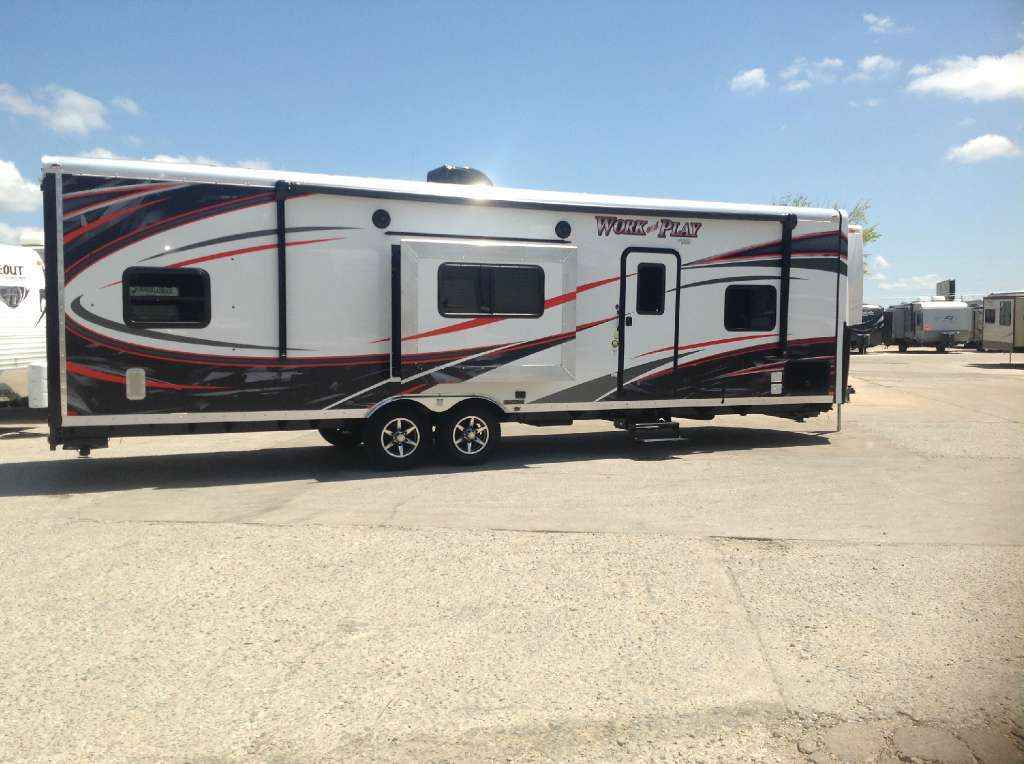 2018 New Forest River Work And Play 30wrs Toy Hauler In