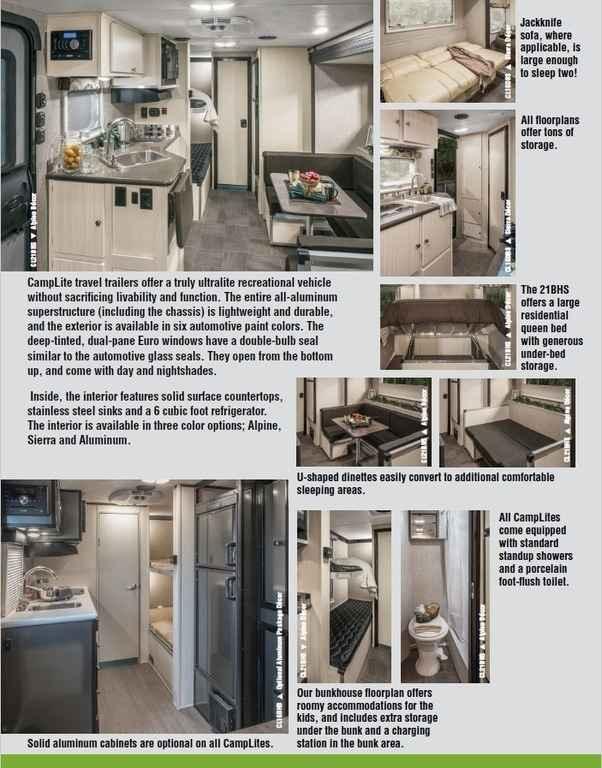 2018 New Livin Lite Camp Lite 14 DBS Travel Trailer in Texas TX