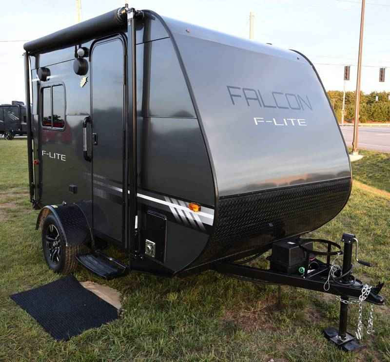 2018 New Travel Lite Falcon Fl 14 F Lite Travel Trailer In